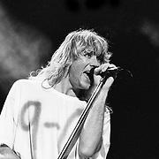 ALLENTOWN - AUGUST 03: Joe Elliott of Def Leppard performs on August 03, 1993 in Allentown, Pennsylvania. ©Lisa Lake