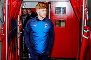 Wimbledon midfielder Alfie Egan (28) arrives during the The FA Cup 3rd round match between Fleetwood Town and AFC Wimbledon at the Highbury Stadium, Fleetwood, England on 5 January 2019.