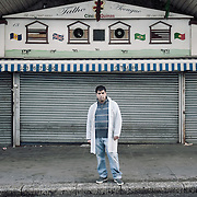 O Talho Portuguese Butchers.<br /> 13 Atlantic Road.<br /> <br /> The shop opened 22 years ago, Duarte has been working for the past 6 years.  If the shop will close down 6 people and 2 families will be affected.