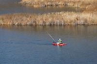Fishing on Dry Falls Lake, Sun Lakes-Dry Falls State Park, Columbia Plateau Washington