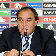 Besiktas' president Yildirim Demiroren attend a signing ceremony in Istanbul, Turkey on 16 June 2010. Schuster signed a two years contract with the Turkish soccer club. Photo by TURKPIX