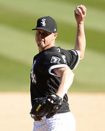 CHICAGO - APRIL 08:  Nate Jones #65 of the Chicago White Sox pitches against the Tampa Bay Rays on April 8, 2019 at Guaranteed Rate Field in Chicago, Illinois.  (Photo by Ron Vesely)  Subject:   Nate Jones