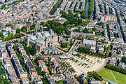 Nederland, Noord-Holland, Amsterdam, 29-06-2018; Amsterdam-Zuid, Museumkwartier. Met aan het Museumplein Rijksmuseum.<br /> Museum quarter.<br /> View of the old town, w belt of canals.<br /> luchtfoto (toeslag op standard tarieven);<br /> aerial photo (additional fee required);<br /> copyright foto/photo Siebe Swart