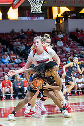 NORMAL, IL - February 27: Brice Calip defended by Lexy Koudelka during a college women's basketball game between the ISU Redbirds and the Bears of Missouri State February 27 2020 at Redbird Arena in Normal, IL. (Photo by Alan Look)