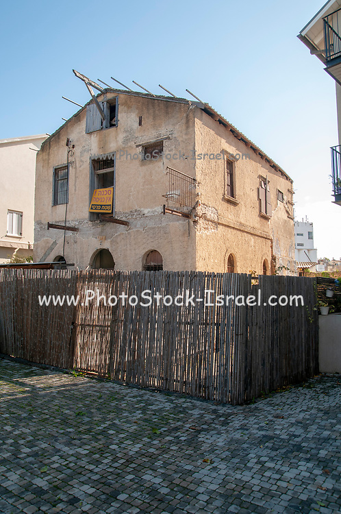 Ruined house, soon to be renovated in the American Colony, Tel Aviv, Israel