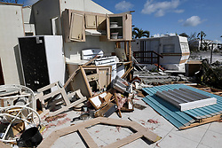 September 12, 2017 - Cudjoe Key, Florida, U.S.- A completely destroyed mobile home sits at Venture Out Condominium Community in Cudjoe Key, Tuesday morning. Cudjoe Key was ground zero for Hurricane Irma.   (Credit Image: © Sun-Sentinel via ZUMA Wire)