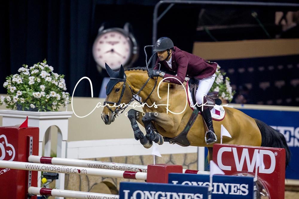 Sheikh Ali Al Thani Bin Khalid, QAT, First Devision<br /> World Cup Final Jumping - Las Vegas 2015<br /> © Hippo Foto - Dirk Caremans<br /> 17/04/2015