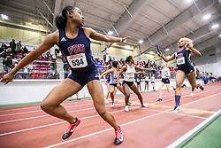 womens 4x400 relay, heat 4, Farleigh Dickinson<br /> BU John Terrier Classic <br /> Indoor Track & Field Meet