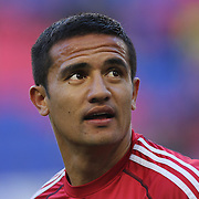 Tim Cahill, New York Red Bulls, warming up before the New York Red Bulls V New England Revolution, Major League Soccer regular season match at Red Bull Arena, Harrison, New Jersey. USA. 20th April 2013. Photo Tim Clayton