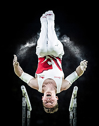 England's Nile Wilson wins Silver on the Men's Parallel Bars at the Coomera Indoor Sports Centre during day five of the 2018 Commonwealth Games in the Gold Coast, Australia.