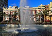 Water fountain by Casa Ferrera built 1900 architect Trinidad Cuartara Cassinello, Almeria, Spain - Parque de Nicolás Salmerón