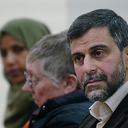 """London, England, UK. 29th November 2017. Mohammed Kozbar attend the debate """"Confronting anti-muslim hate crimes in Britain"""" challenges and opportunities."""