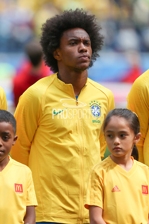 Willian of Brazil during the 2018 FIFA World Cup Russia, Group E football match between Brazil and Costa Rica on June 22, 2018 at Saint Petersburg Stadium in Saint Petersburg, Russia - Photo Thiago Bernardes / FramePhoto / ProSportsImages / DPPI