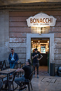 """The old """"Caffe Drogheria"""" is now one of the many pubs on the Ridola street one of pedestrians favorite by materans people  for the evening  pronenade"""