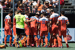 The Netherlands at the start of the match during the Champions Trophy finale between the Netherlands and Argentina on the fields of BH&BC Breda on Juli 1, 2018 in Breda, the Netherlands.