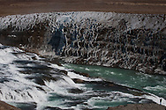 The Golden Falls of Gullfoss, Iceland, and the river Hvita.