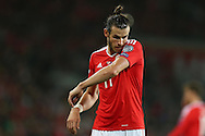 Gareth Bale of Wales © looks on. Wales v Moldova , FIFA World Cup qualifier at the Cardiff city Stadium in Cardiff on Monday 5th Sept 2016. pic by Andrew Orchard, Andrew Orchard sports photography