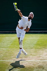 July 7, 2018 - London, U.S. - LONDON, ENGLAND - JULY 07: BENOIT PAIRE (FRA) during a day six match of the 2018 Wimbledon on July 7, 2018, at All England Lawn Tennis and Croquet Club in London, England. (Photo by Chaz Niell/Icon Sportswire) (Credit Image: © Chaz Niell/Icon SMI via ZUMA Press)
