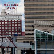 Downtown Kansas City's Western Auto building.