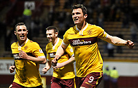 07/04/15 SCOTTISH PREMIERSHIP<br /> MOTHERWELL V ST MIRREN<br /> FIR PARK - MOTHERWELL<br /> John Sutton celebrates his goal for Motherwell.