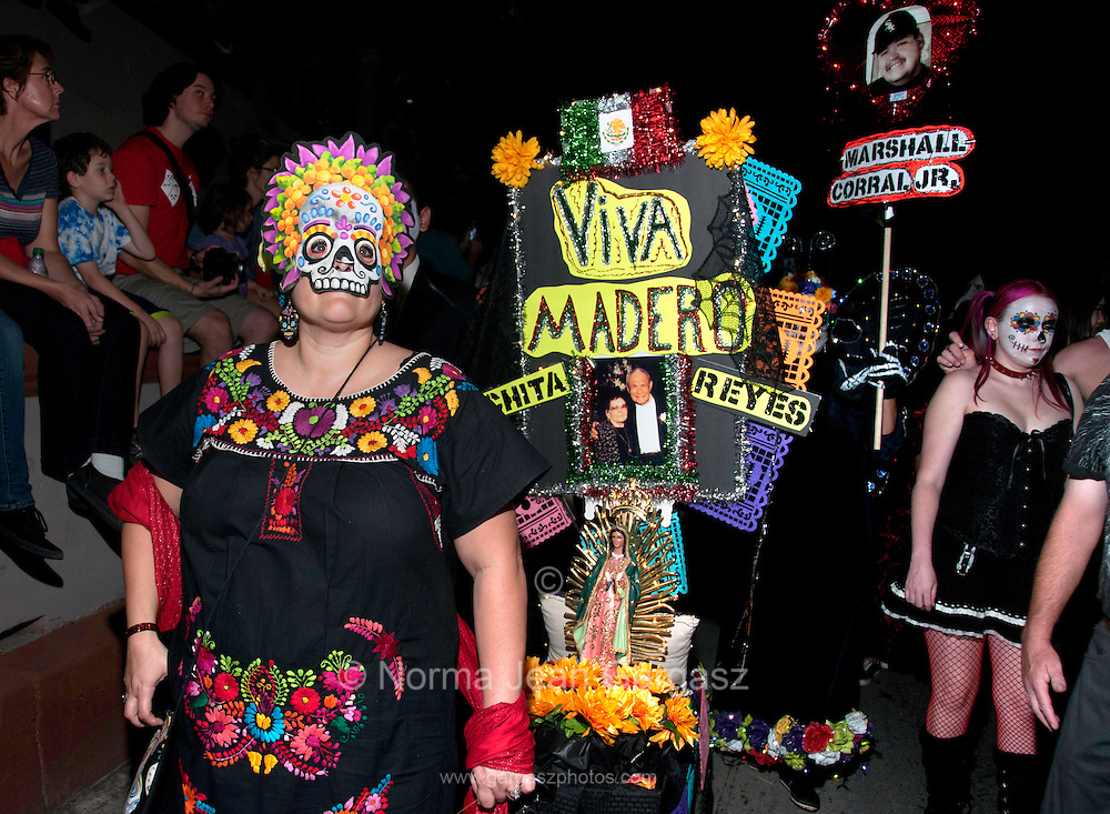 Participants in the annual All Souls Procession honor the deceased in Tucson, Arizona, USA.