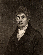 William Braidwood, one of the pastors of the Original Baptist Church, Edinburgh, Scotland. Engraving 1819.