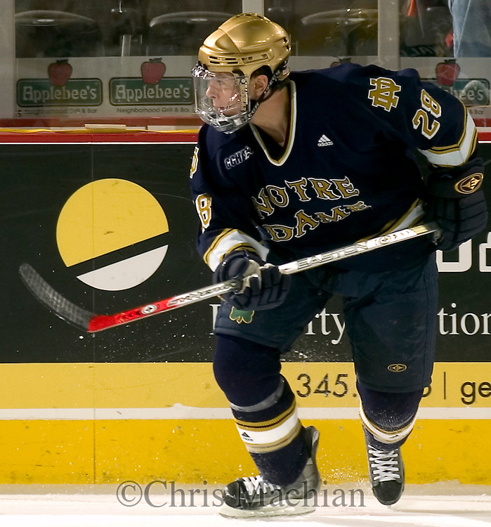 1/6/06  Omaha, NE Tim Wallace of the Notre Dame hockey team friday night. (photo by Chris Machian/Prarie Pixel Group)
