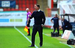 Morecambe manager Derek Adams gestures- Mandatory by-line: Nizaam Jones/JMP - 12/09/2020 - FOOTBALL - Jonny-Rocks Stadium - Cheltenham, England - Cheltenham Town v Morecambe - Sky Bet League Two