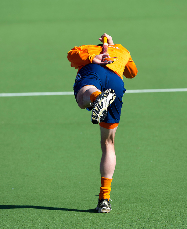 The Netherlands, Amstelveen, 26-03-2012.<br /> Hockey, Men, Dutch national team, Training.<br /> Teun de Nooijer during the training of the national squad in the Wagener Stadium.<br /> Photo : Klaas Jan van der Weij