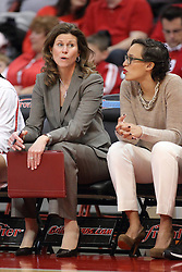 04 January 2015:  Lisa Hayden and Erin Dickerson during an NCAA MVC (Missouri Valley Conference) women's basketball game between the Southern Illinois Salukis and the Illinois Sate Redbirds at Redbird Arena in Normal IL