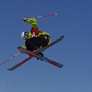 Erik Hughes, USA,  in action in the Slopestyle Finals during The North Face Freeski Open at Snow Park, Wanaka, New Zealand, 2nd September 2011. Photo Tim Clayton...