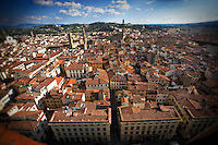 Rooftop view of the city of Florence, Italy.