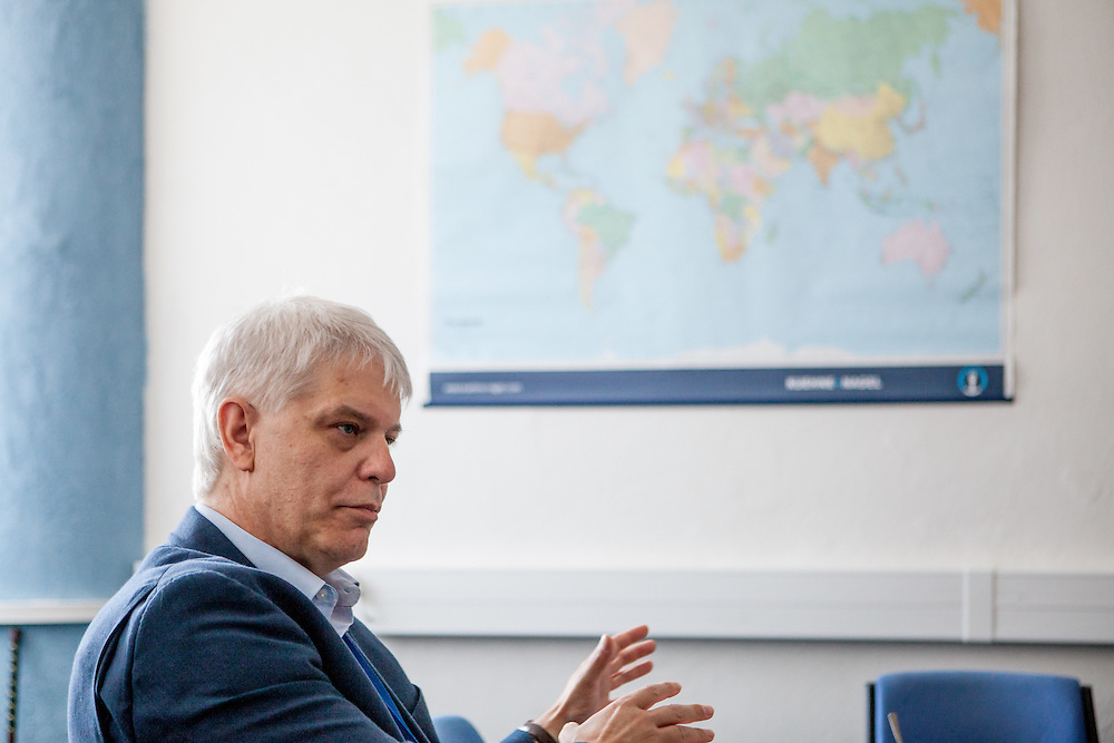 Jan van der Hoeven - the Director of GSSD EMEA Service Operations of Foxconn in his office at the Pardubice branch of the company. Foxconn Technology Group, is a multinational electronics contract manufacturing company headquartered in New Taipei, Taiwan. Foxconn is the world's largest electronics contractor manufacturer, and the third-largest information technology company by revenue.
