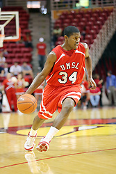 11 November 2007: Larricus Brown. Illinois State Redbirds defeated the Missouri - St. Louis Tritons 70-37 in an early season game on Doug Collins Court in Redbird Arena on the campus of Illinois State University in Normal Illinois.