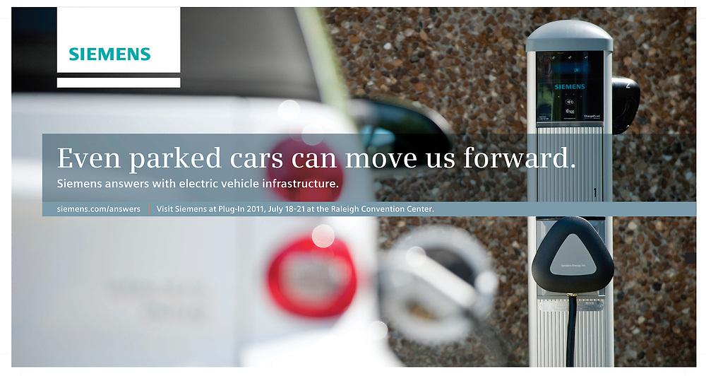 Siemens EV Charging Station Advertisement