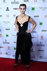 November 19, 2018 - New York, NEW YORK, UNITED STATES - Tuba Buyukustun attends the 46th Annual International Emmy Awards - Arrivals at New York Hilton on November 19, 2018 in New York City. (Credit Image: © William Volcov/ZUMA Wire)