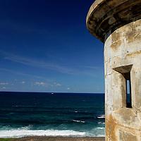 USA, Puerto Rico, San Juan. Garita, or sentry box, of San Cristobal.
