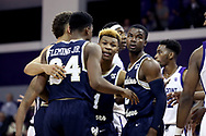 HIGH POINT, NC - JANUARY 06: Charleston Southern's Christian Keeling (center). The High Point University of Panthers hosted the Charleston Southern University Buccaneers on January 6, 2018 at Millis Athletic Convocation Center in High Point, NC in a Division I men's college basketball game. HPU won the game 80-59.
