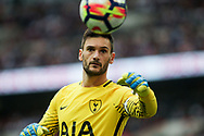 Tottenham Hotspur  Goalkeeper Hugo Lloris looks on<br /> Premier league match, Tottenham Hotspur v AFC Bournemouth at Wembley Stadium in London on Saturday 14th October 2017.<br /> pic by Kieran Clarke, Andrew Orchard sports photography.