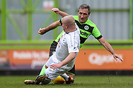 Forest Green Legends Tommy Callinan and Trevor Horsley XI Lee Fowler during the Trevor Horsley Memorial Match held at the New Lawn, Forest Green, United Kingdom on 19 May 2019.