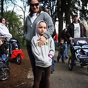 Kailey Tollenaar, 6, and hundreds of other supporters take part in the March for Babies, a fundraiser at Bush's Pasture Park for the March of Dimes on Saturday, April 24, 2010.