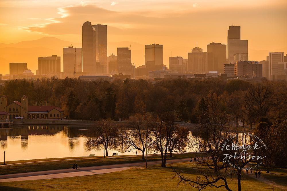 City Skyline from the Denver Museum of Nature & Science, City Park, Denver, Colorado, USA