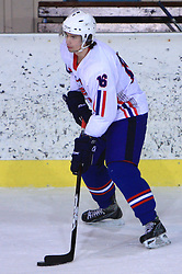 Blaz Gregorc at friendly ice-hockey game between Slovenian National Team U20 and HKMK Bled, before World Championship Division 1, Group A in Herisau, Switzerland, on December 11, 2008, in Bled, Slovenia. (Photo by Vid Ponikvar / Sportida)