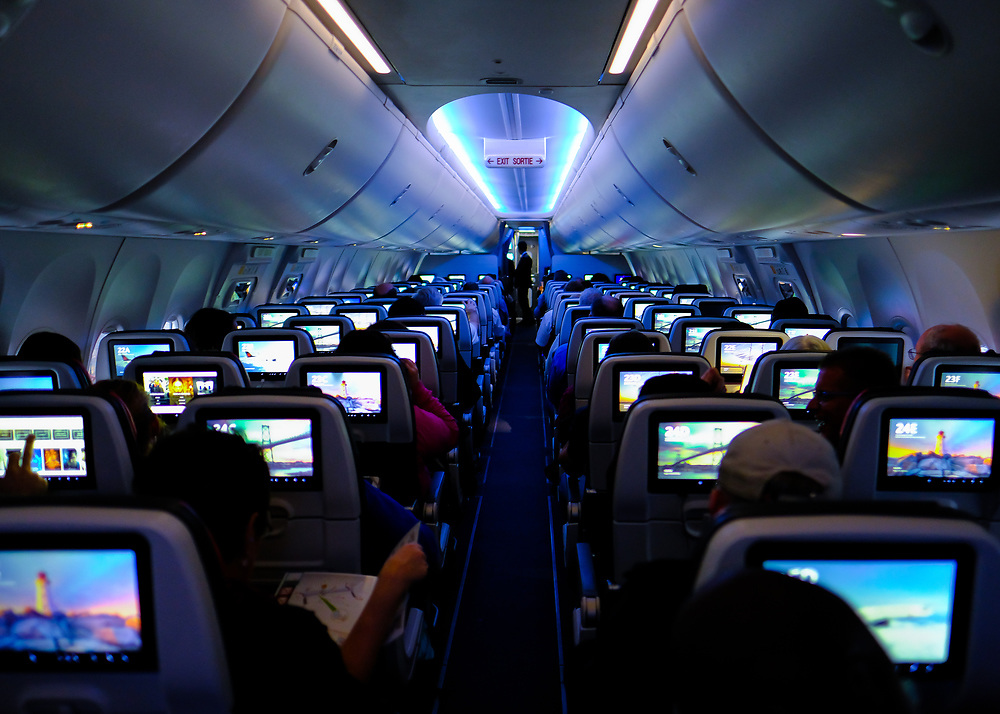 There are many exterior shots of the Boeing 737 Max 8. Here's a view from the inside for an additional perspective.