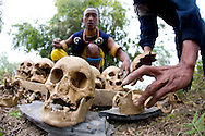 A Naga Angh unearths a tomb of human skulls.
