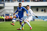 Junior Hoilett (33) of Cardiff City, Ravel Morrison (49) of Queens Park Rangers during the EFL Sky Bet Championship match between Queens Park Rangers and Cardiff City at the Loftus Road Stadium, London, England on 4 March 2017. Photo by Sebastian Frej.