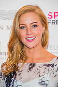 Sarah-Jane Mee, Sky Sports - UK charity, Sport for Freedom (SFF), marks Anti-Slavery Day 2015 by hosting a charity Gala Dinner, supported by Aston Martin, on Thursday 15th October at Stamford Bridge, home of Chelsea Football Club. This inaugural event brought together people from the world of sport, entertainment, media, and business to unite behind a promise to tackle the issue of modern day human trafficking and slavery.  <br /> Hosted by Sky presenters Sarah-Jane Mee and Jim White, the Sport for Freedom Gala Dinner includes guests such as jockey AP McCoy OBE; Denise Lewis, former British Olympic Gold Medal winner; BBC Strictly star, Brendan Cole; Al Bangura, former Watford FC player and Sport for Freedom Ambassador who was trafficked from Africa to the UK at the age of just 14yrs old; Made in Chelsea star, Ollie Proudlock; ITV weather presenter, Lucy Verasamy; Sky Sports F1 presenter and SFF Ambassador, Natalie Pinkham; Premier League footballers Ryan Bertrand of Southampton FC and Troy Deeney of Watford FC and champion boxer, Anthony Joshua; and The UK's first independent Anti Slavery Commissioner, Kevin Hyland OBE, who highlighted the issues of modern day slavery that face the UK and world today. <br /> The evening concluded with chart topping music from 'Naughty Boy'. <br /> Sport for Freedom are also joining forces with the Premier League Academies for an international  'Football for Freedom' tournament with their U16's players that will also involve educating those taking part about the issues surrounding modern day slavery. The final will take place at Liverpool FC's Academy on Anti-Slavery Day, 18th October.