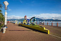 Puerto Princesa Baywalk is brimming with activity along this promenade that stretches parallel along the port area. It has several benches where people can rest under lamposts with colorful lights.  The best time to visit the Baywalk is late afternoon or early evening when the stalls are open, selling a variety of food and drinks. The lamposts are also lit up and it is naturally the cool and pleasant part of the day to view Puerto Princesa Port.