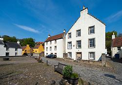 View of historic buildings in Culross, Fife , Scotland, UK
