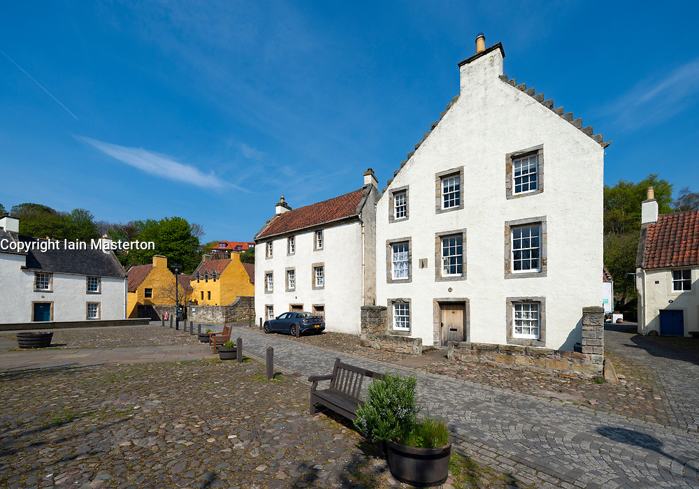 View of historic buildings in Culross, Fife , Scotland, UK